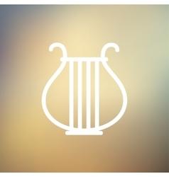 Lyre thin line icon vector