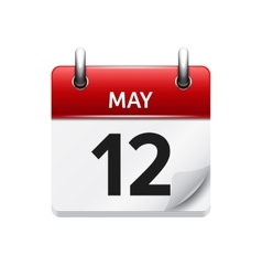 May 12 flat daily calendar icon date vector