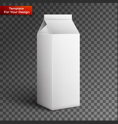 milk juice beverages carton package blank vector image