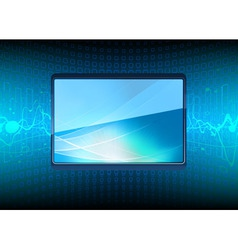 modern plasma tv screen vector image vector image