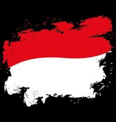 Monaco flag grunge style on black background Brush vector image