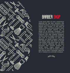 monochrome barber shop concept vector image