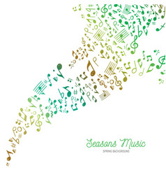 music background in spring colors vector image