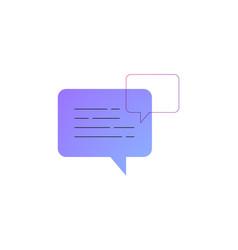 neon chat bubbles line icon vector image