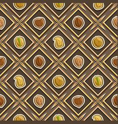 Nut seamless pattern vector