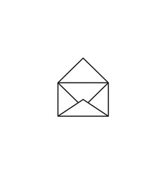 opened mail icon vector image