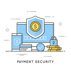payment security data and transactions protection vector image
