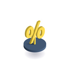 percent symbol icon vector image