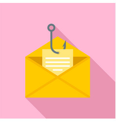 phishing personal mail icon flat style vector image