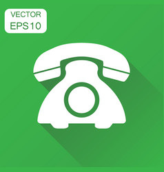 phone icon business concept old vintage telephone vector image