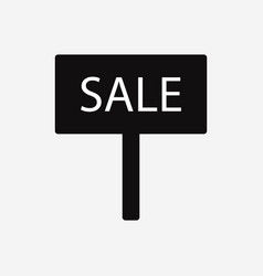 placard sale icon vector image