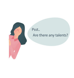 Recruiter searching for talents vector
