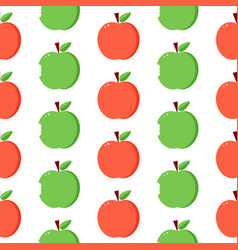 Red and green apples seamless pattern background vector