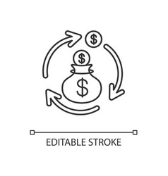 revenue synergy linear icon vector image