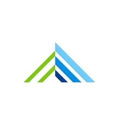 Roconstruction line house logo vector