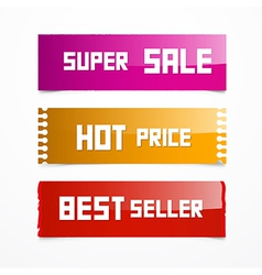 Sale Pink Orange and Red Labels vector image