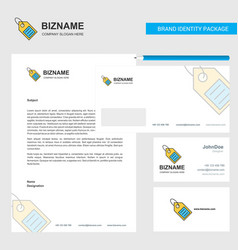 sale tag business letterhead envelope and vector image