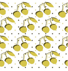 seamless pattern with double cherry vector image