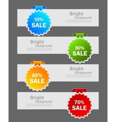 Set of banners with label vector image