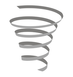 set of monochrome icons with coil spring vector image