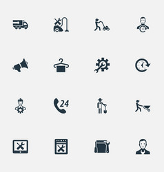Set of simple help icons vector