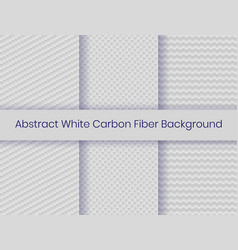 Set white carbon fiber background carbon fiber vector
