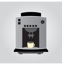 Silver coffeemaker espresso machine eps10 vector