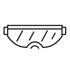 ski goggles icon outline style vector image