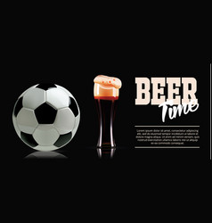 Sport and beer template banner photo-realistic vector