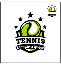 Sport ball champions league logo vector