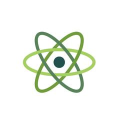 the atom icon atom symbolisolated on white flat vector image