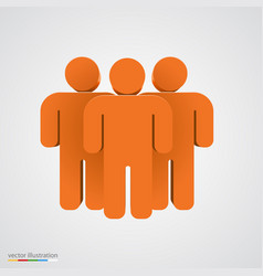 three-dimensional people group teamwork concept vector image vector image