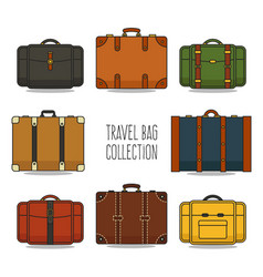 Travel bag collection vector