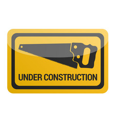 under construction signal vector image