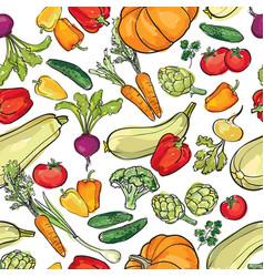 Vegetables garden pattern food ingredient vector