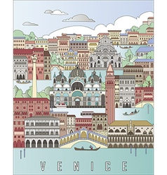 Venice City Poster vector image