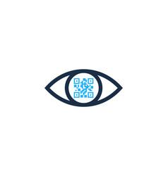 vision barcode logo icon design vector image