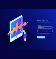 Voice message landing page vector