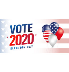 vote usa 2020 balloons flag banner vector image
