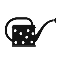 Watering can black simple icon vector
