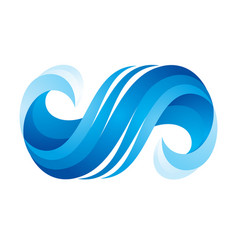 wave icon on white background vector image