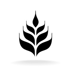 Wheat icon Simple black logo silhouette vector