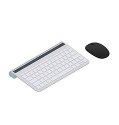 Wireless keyboard icon vector
