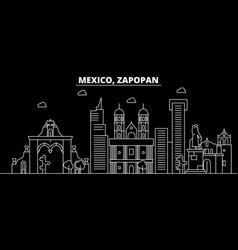 Zapopan silhouette skyline mexico - zapopan vector