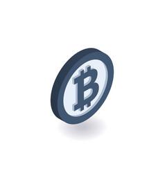 bitcoin icon coin with bitcoin sign vector image vector image