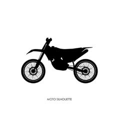 Black silhouette of a sports bike vector image