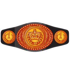 champion boxing belt vector image