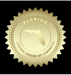 Gold star label Florida vector image vector image