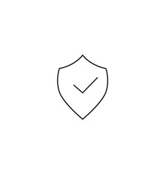 security shied approve icon vector image