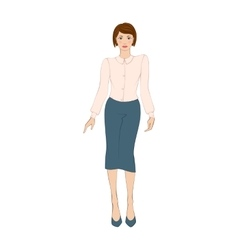 Women in elegant office clothes flat icon vector image